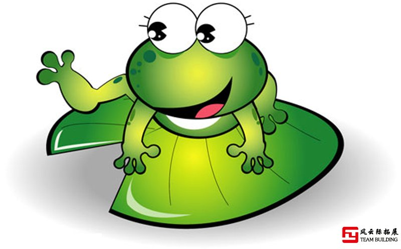 晨会拓展项目青蛙过河游戏图片
