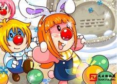 集体互动游戏《多种踩气球》